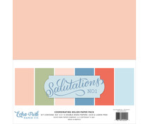 Echo Park Salutations No.1 12x12 Inch Coordinating Solids Paper Pack (SAN244015)