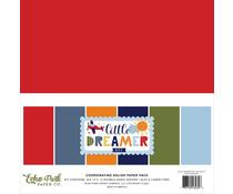Echo Park Little Dreamer Boy 12x12 Inch Coordinating Solids Paper Pack (LDB238015)