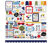 Echo Park Little Dreamer Boy 12x12 Inch Element Sticker (LDB238014)