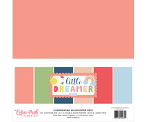Echo Park Little Dreamer Girl 12x12 Inch Coordinating Solids Paper Pack (LD237015)