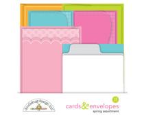 Doodlebug Design Spring Assortment Cards & Envelopes (7183)