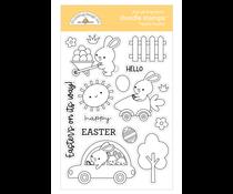 Doodlebug Design Hippity Hoppity Doodle Stamps (7178)
