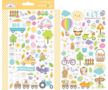 Doodlebug Design Hippity Hoppity Mini Icons Sticker (7177)