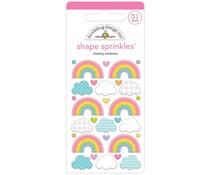 Doodlebug Design Chasing Rainbows Shape Sprinkles (7201)