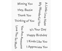 My Favorite Things Banner Day Sentiments Clear Stamps (CS-556)