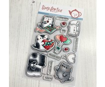 Time For Tea Smitten Kittens A6 Clear Stamps (T4T/588/Smi/Cle)