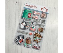 Time For Tea Happy Mail Critters A6 Clear Stamps (T4T/586/Hap/Cle)