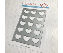 Time For Tea Lots of Love Vertical A6 Cover Plate Metal Dies (T4T/593/A6L/Sta)