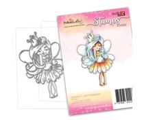 Polkadoodles Serenity Fairy Princess Clear Stamps (PD7852)