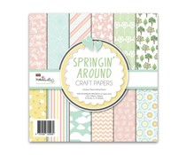 Polkadoodles Springin' Around 6x6 Inch Paper Pack (PD8129)