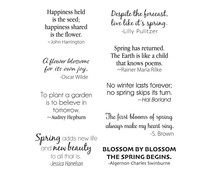 Spellbinders Spring Quotes Clear Stamps (STP-026)