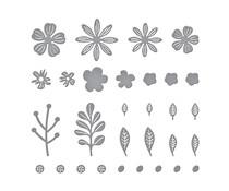 Spellbinders Mini Blooms and Sprigs Etched Dies (S2-314)