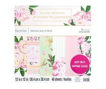 Craft Smith Plush Peonies 12x12 Inch Paper Pad (MSE6825)