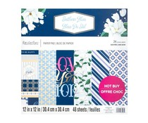 Craft Smith Southern Blues 12x12 Inch Paper Pad (MSE6826)