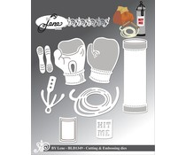 By Lene Boxing-1 Cutting & Embossing Dies (BLD1349)