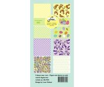 By Lene Happy Easter Slim Card (BLP201)