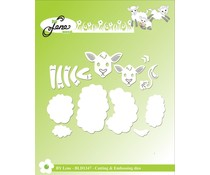 By Lene Sheep Family Cutting & Embossing Dies (BLD1347)