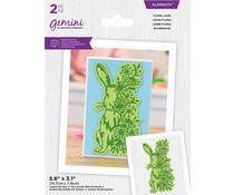 Gemini Floral Hare Elements Dies (GEM-MD-ELE-FLHA)