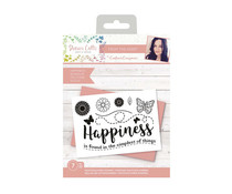 Crafter's Companion Sharon Callis From the Heart Clear Stamps Happiness (SCC-STP-HAPP)