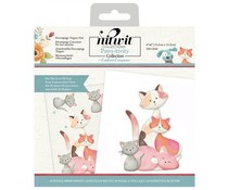 Crafter's Companion Pawsitivity For the Love of Cats 6x6 Inch Die-Cut Decoupage Topper Pad (NIT-PAW-DTP6CAT)