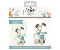 Crafter's Companion Pawsitivity For the Love of Dogs 6x6 Inch Die-Cut Decoupage Topper Pad (NIT-PAW-DTP6DOG)