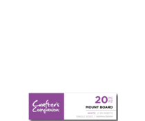 Crafter's Companion Mount Board White (CC-MOUNTW20)