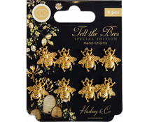 Craft Consortium Tell the Bees Special Edition Metal Charms Gold Bees (CCMCHRM020)