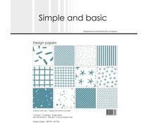 Simple and Basic Aqua 12x12 Inch Paper Pack (SBP706)