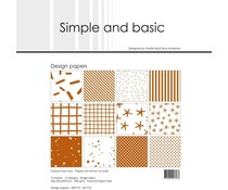 Simple and Basic Cognac 12x12 Inch Paper Pack (SBP710)
