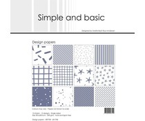 Simple and Basic Eggplant 12x12 Inch Paper Pack (SBP708)