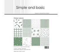 Simple and Basic Eucalyptus 12x12 Inch Paper Pack (SBP701)
