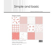 Simple and Basic Fresh Peach 12x12 Inch Paper Pack (SBP707)