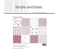 Simple and Basic Old Rose 12x12 Inch Paper Pack (SBP709)
