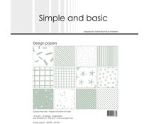Simple and Basic Sage 12x12 Inch Paper Pack (SBP705)