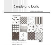 Simple and Basic Warm Grey 12x12 Inch Paper Pack (SBP703)