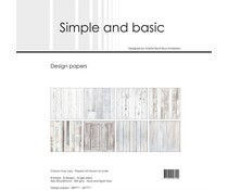 Simple and Basic White Wood 12x12 Inch Paper Pack (SBP711)