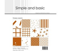 Simple and Basic Cognac 6x6 Inch Paper Pack (SBP510)