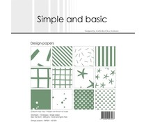 Simple and Basic Eucalyptus 6x6 Inch Paper Pack (SBP501)