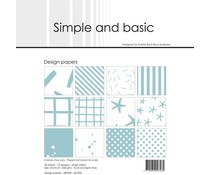 Simple and Basic Mint 6x6 Inch Paper Pack (SBP502)