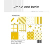 Simple and Basic Mustard 6x6 Inch Paper Pack (SBP504)