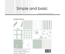 Simple and Basic Sage 6x6 Inch Paper Pack (SBP505)