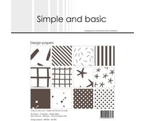 Simple and Basic Warm Grey 6x6 Inch Paper Pack (SBP503)