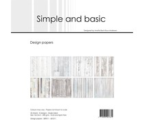 Simple and Basic White Wood 6x6 Inch Paper Pack (SBP511)