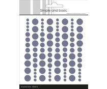 Simple and Basic Adhesive Enamel Dots Eggplant (96 pcs) (SBA016)