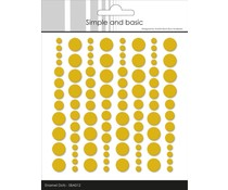 Simple and Basic Adhesive Enamel Dots Mustard (96 pcs) (SBA012)