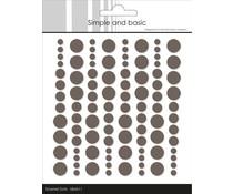 Simple and Basic Adhesive Enamel Dots Warm Grey (96 pcs) (SBA011)