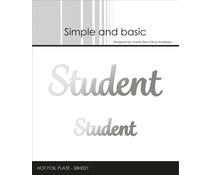 Simple and Basic Student Hot Foil Plates (SBH021)