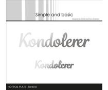 Simple and Basic Kondolerer Hot Foil Plates (SBH018)