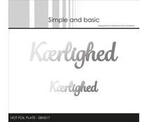 Simple and Basic Kærlighed Hot Foil Plates (SBH017)