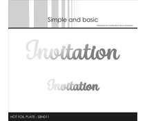 Simple and Basic Invitation Hot Foil Plates (SBH011)